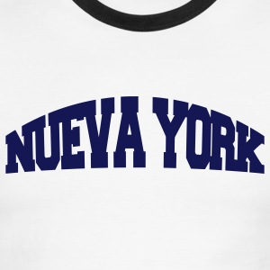White/navy nueva york T-Shirts - Men's Ringer T-Shirt