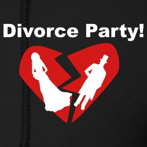 Black Divorce Party! Zip Hoodies/Jackets - Men's Zip Hoodie
