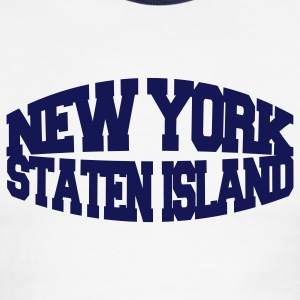 White/navy new york staten island T-Shirts - Men's Ringer T-Shirt