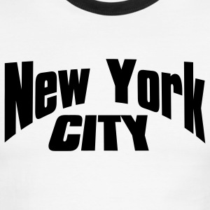 White/black new york city T-Shirts - Men's Ringer T-Shirt