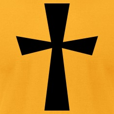 Gold simple gothic cross christian shape T-Shirts