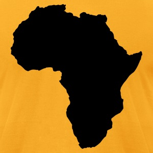 Gold AFRICA  T-Shirts - Men's T-Shirt by American Apparel
