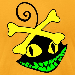 Gold voodoo smiling creepy creature cheshire cat T-Shirts - Men's T-Shirt by American Apparel