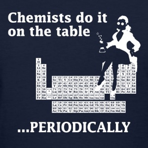Navy Chemist Do It On the Table Women's T-Shirts - Women's T-Shirt