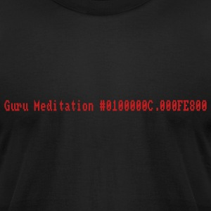 Black Guru Meditation T-Shirts - Men's T-Shirt by American Apparel
