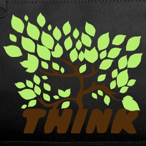 Black think green with a beautiful tree leaves Bags  - Duffel Bag