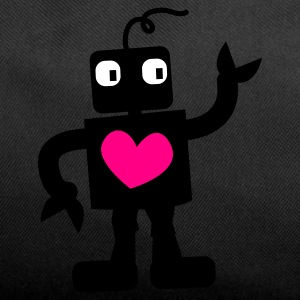 Dark red robot cute with love heart right Bags  - Duffel Bag