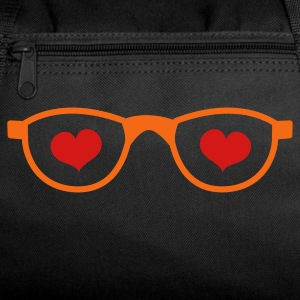 Dark red LOVE nerdy glasses Bags  - Duffel Bag