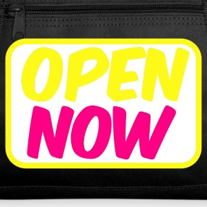 Dark red open now neon 80s font lights Bags  - Duffel Bag
