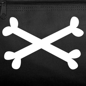 Dark red plain white music metal pirate crossbones Bags  - Duffel Bag