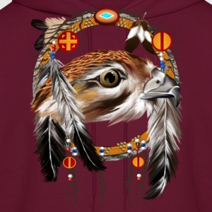 Hawk Face Dream Catcher - Men's Hoodie