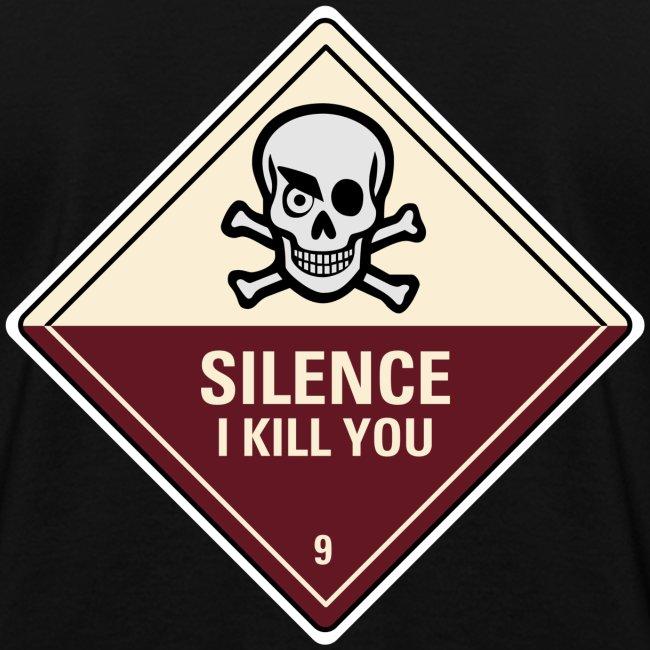 Silence I Kill You (Back)