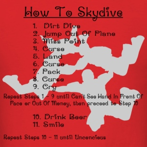Red How To Skydive T-Shirts - Men's T-Shirt