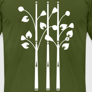 Cue Trees  - Men's T-Shirt by American Apparel