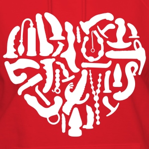 Red Sex Tools Heart Hoodies - Women's Hoodie