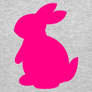 Heather grey cute rabbit shape left Long Sleeve Shirts - Crewneck Sweatshirt