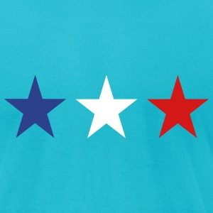 Turquoise France T-Shirts - Men's T-Shirt by American Apparel