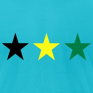 Turquoise Jamaica T-Shirts - Men's T-Shirt by American Apparel