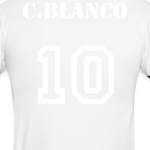 Mexico flag front-(Blanco 10) back - Men's Ringer T-Shirt