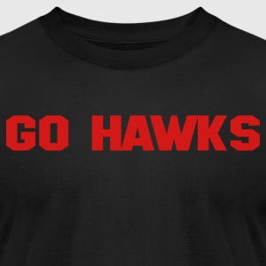 Black GO HAWKS T-Shirts - Men's T-Shirt by American Apparel