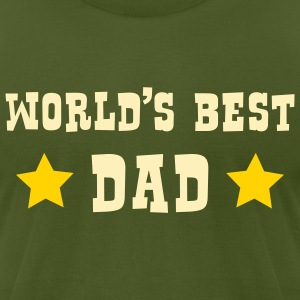 World's Best Dad - Men's T-Shirt by American Apparel