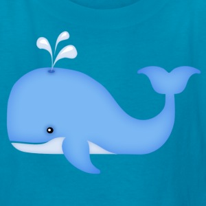 cute whale - Kids' T-Shirt