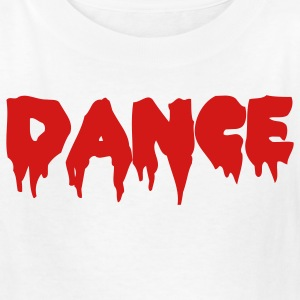 White DANCE in bloody font Kids' Shirts - Kids' T-Shirt