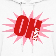 White OH SNAP!  By VOM Design - virtualONmars Hoodies