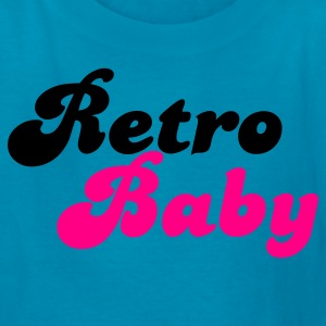 Turquoise retro baby in funky cute font Kids' Shirts - Kids' T-Shirt