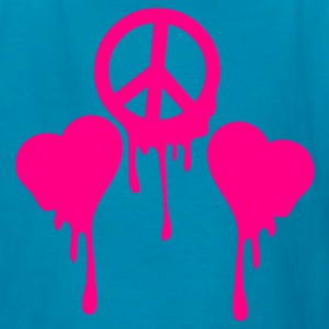 Classic pink BLEEDING PEACE SIGN with LOVE HEART s Kids' Shirts - Kids' T-Shirt