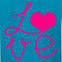 Classic pink LOVE square DESIGN Kids' Shirts