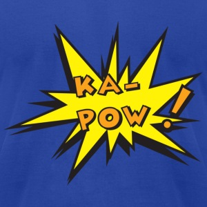 Royal blue ka pow T-Shirts - Men's T-Shirt by American Apparel