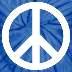 Spider baby blue peace sign T-Shirts
