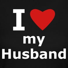 Black I love my husband Long Sleeve Shirts