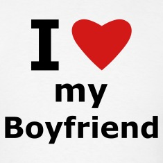 White I love my boyfriend T-Shirts