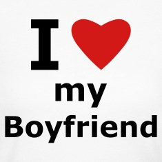 White I love my boyfriend Long Sleeve Shirts