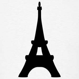 White Eiffel Tower T-Shirts - Men's T-Shirt