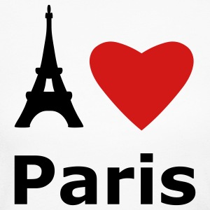 White I love Paris Long Sleeve Shirts - Women's Long Sleeve Jersey T-Shirt