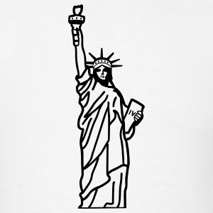 White Statue of Liberty T-Shirts - Men's T-Shirt