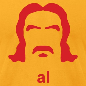 Al Swearengen Hirsute Silhouette - Men's T-Shirt by American Apparel