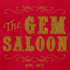 The Gem Saloon - Men's T-Shirt by American Apparel
