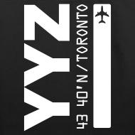 Design ~ Toronto airport code Canada  YYZ black tote beach bag