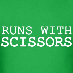 Runs with Scissors Men's T-shirt - Men's T-Shirt