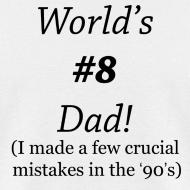 Design ~ World's #8 Dad '90's Ring standard