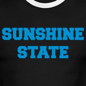 White/navy florida sunshine state T-Shirts - Men's Ringer T-Shirt