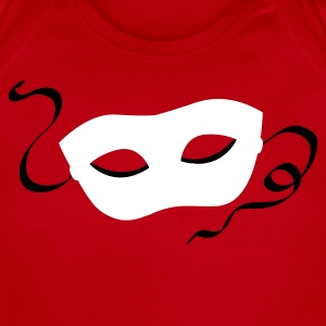 Red mardi gras drama mask sexy Baby Body - Short Sleeve Baby Bodysuit