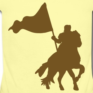 Lemon MEDIEVAL FESTIVAL knight on a horse with a flag  Baby Body - Short Sleeve Baby Bodysuit