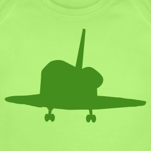 Mint green rocket space voyager ship Baby Body - Short Sleeve Baby Bodysuit