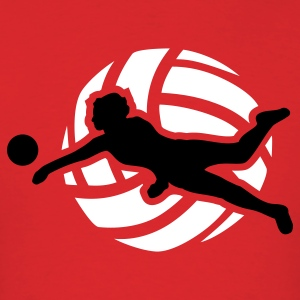 Red Volleyball T-Shirts - Men's T-Shirt