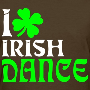 Brown i heart irish dance Women's T-Shirts - Women's T-Shirt